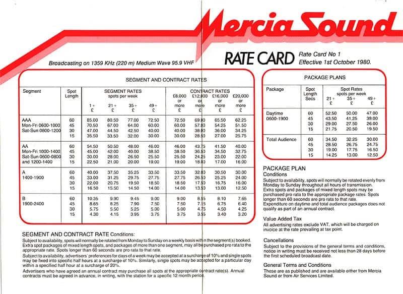 Free Sample Rate Card Templates & Rate Sheets