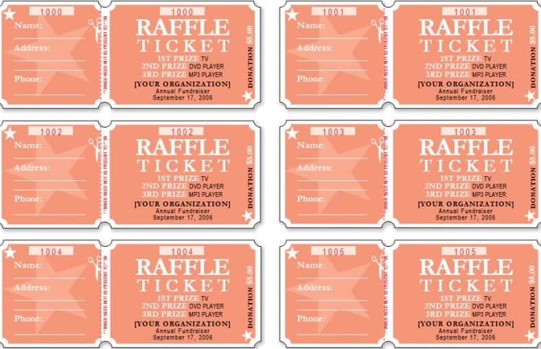 21+ Free Sample Raffle Ticket Templates