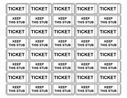 17 free sample raffle ticket templates in different formats