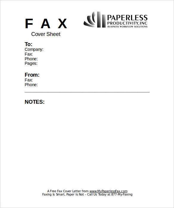 Fax Cover Sheets PDF