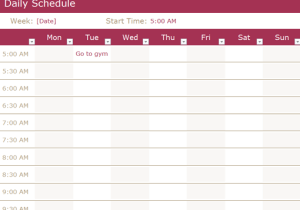 daily schedule maker archives word templates docs