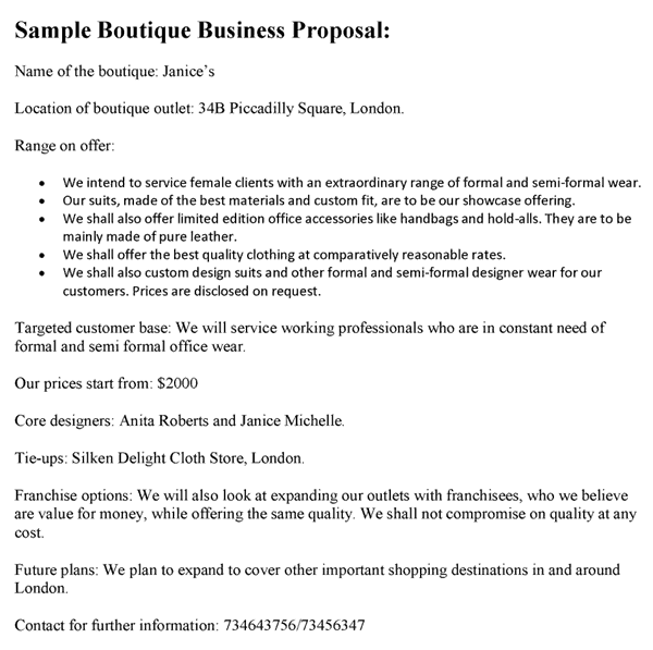 Sample Free Word Proposal Templates Formats