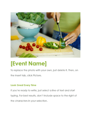 word event flyer template
