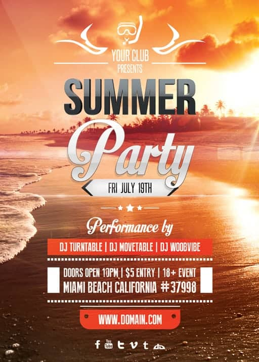 Free Sample Event Flyer Templates - Designs