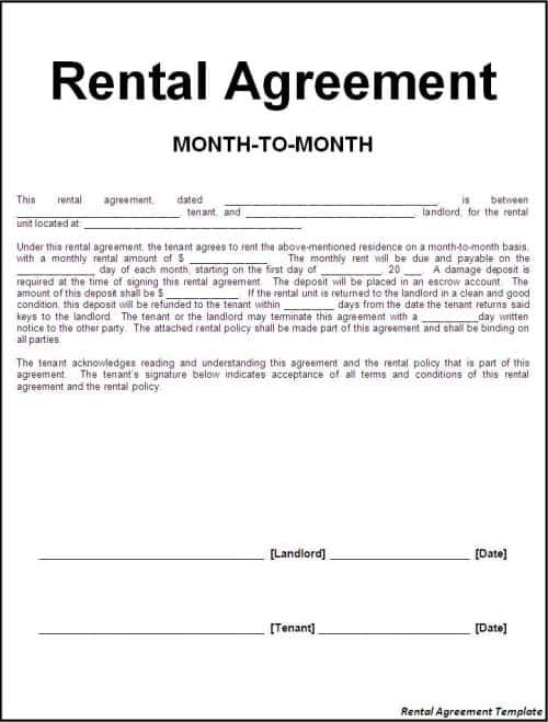 8 Room Rental Agreement Templates In Microsoft Word