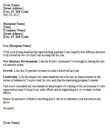 Sle Basic Cover Letter