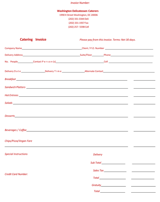 Event Planning Invoice Template Operlyingfo