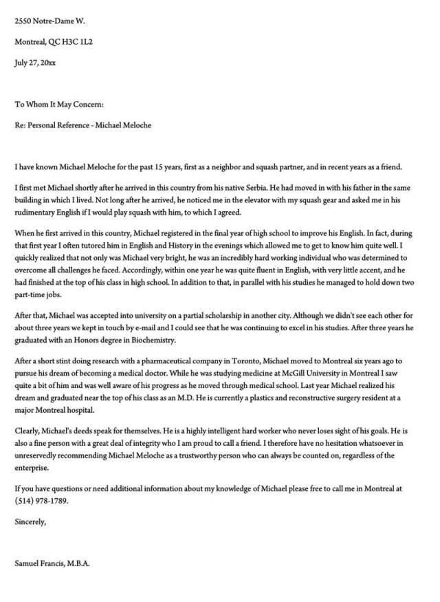Character Reference Letter (28+ Samples for Court, Immigration