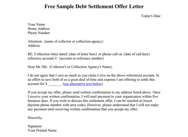 Sample Debt Collection Letter Templates For Debtors