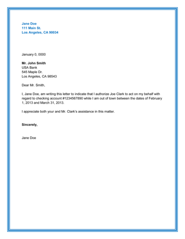 25 Best Authorization Letter Samples