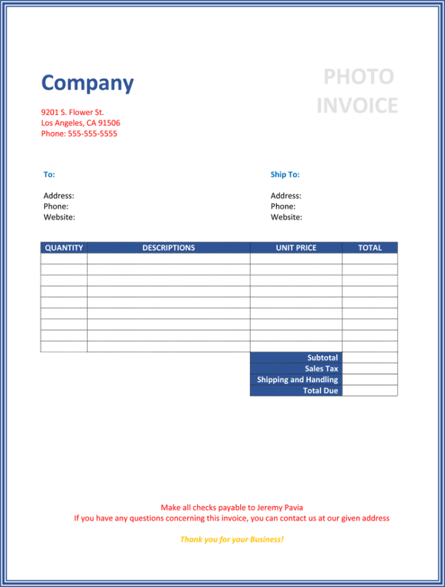 invoice template magento – neverage, Simple invoice