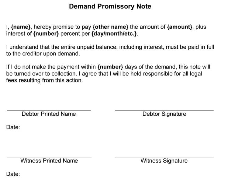 38 Free Promissory Note Templates Forms Word PDF