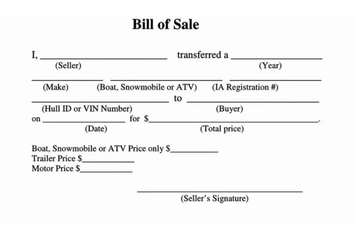 Free All Terrain Vehicle Atv Bill Of Sale Forms How To Fill