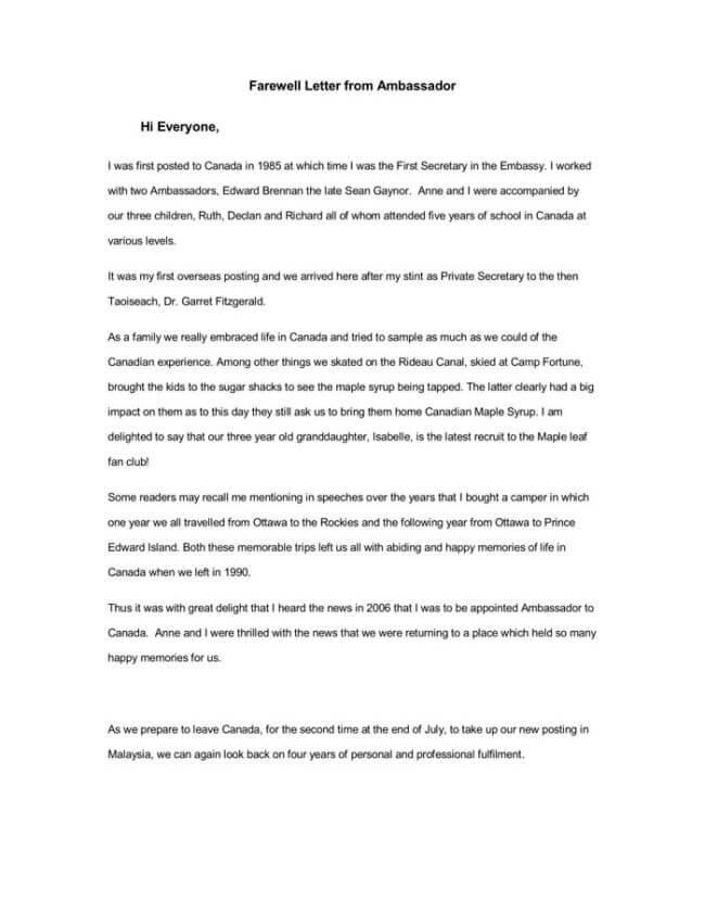 11 Best Farewell Letter Samples For Boss Client