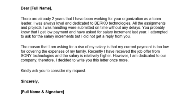 How to ask for a salary raise letter how to for How to ask for a salary in a cover letter