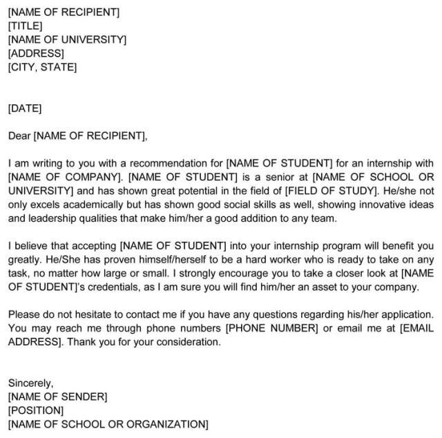 Scholarship Recommendation Letter 20