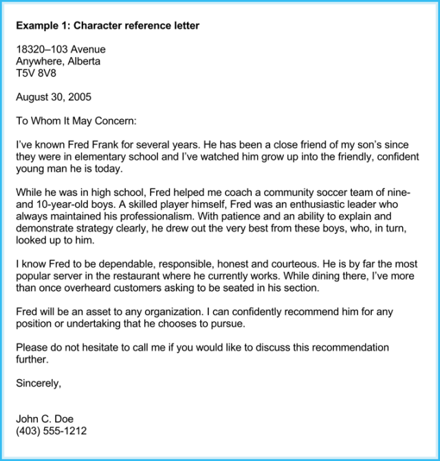Business Recommendation Letter 10