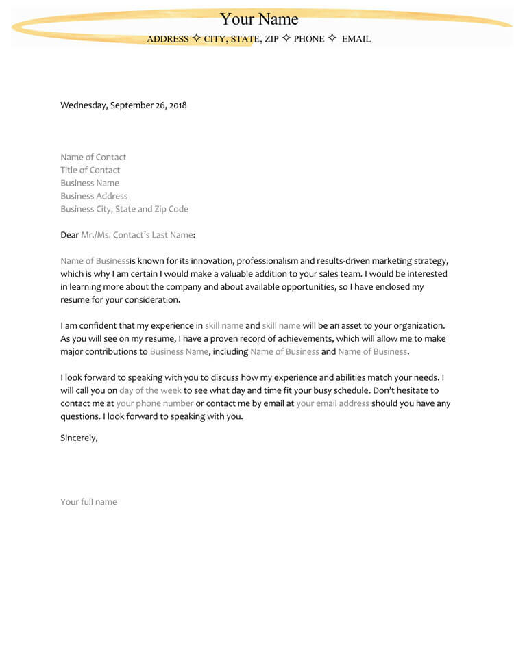 38 Letter Of Interest Samples Examples Writing Guidelines
