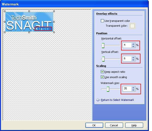 How to Batch Process Images with Snagit - 2 Add Watermark