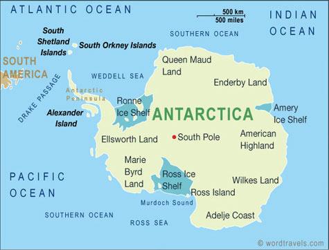 Map of Australia, Oceania, and Antarctica | World Regional ...