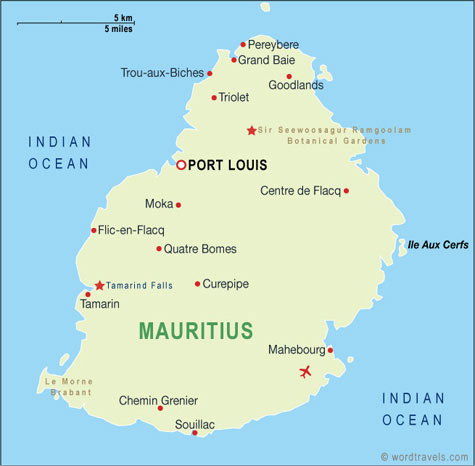 Mauritius, image from worldtravels.com