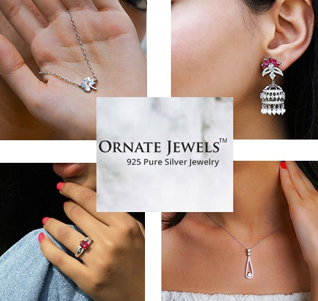 ornate jewels sterling silver jewelry brand in india