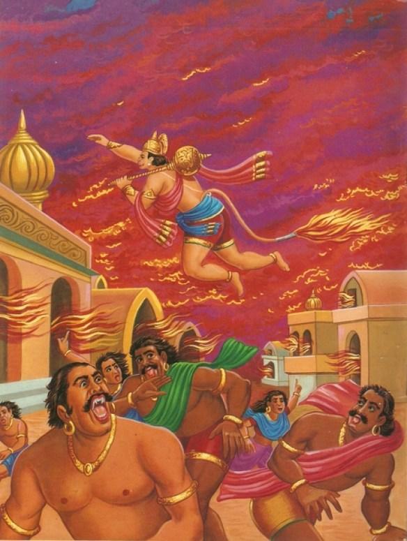 Ramayana Part-7  Lanka Dahan (22)