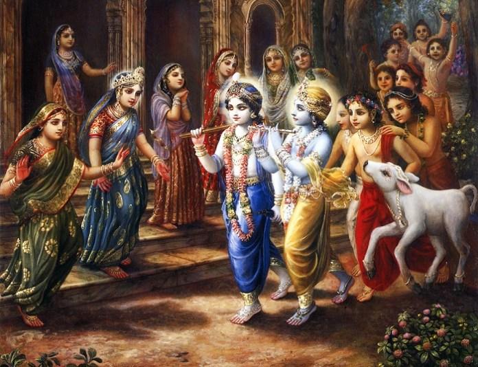 Krishna-Balaram-and-Cowherd-Boys-return-with-the-cows