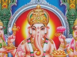 Riddhi and Siddhi with Ganesha
