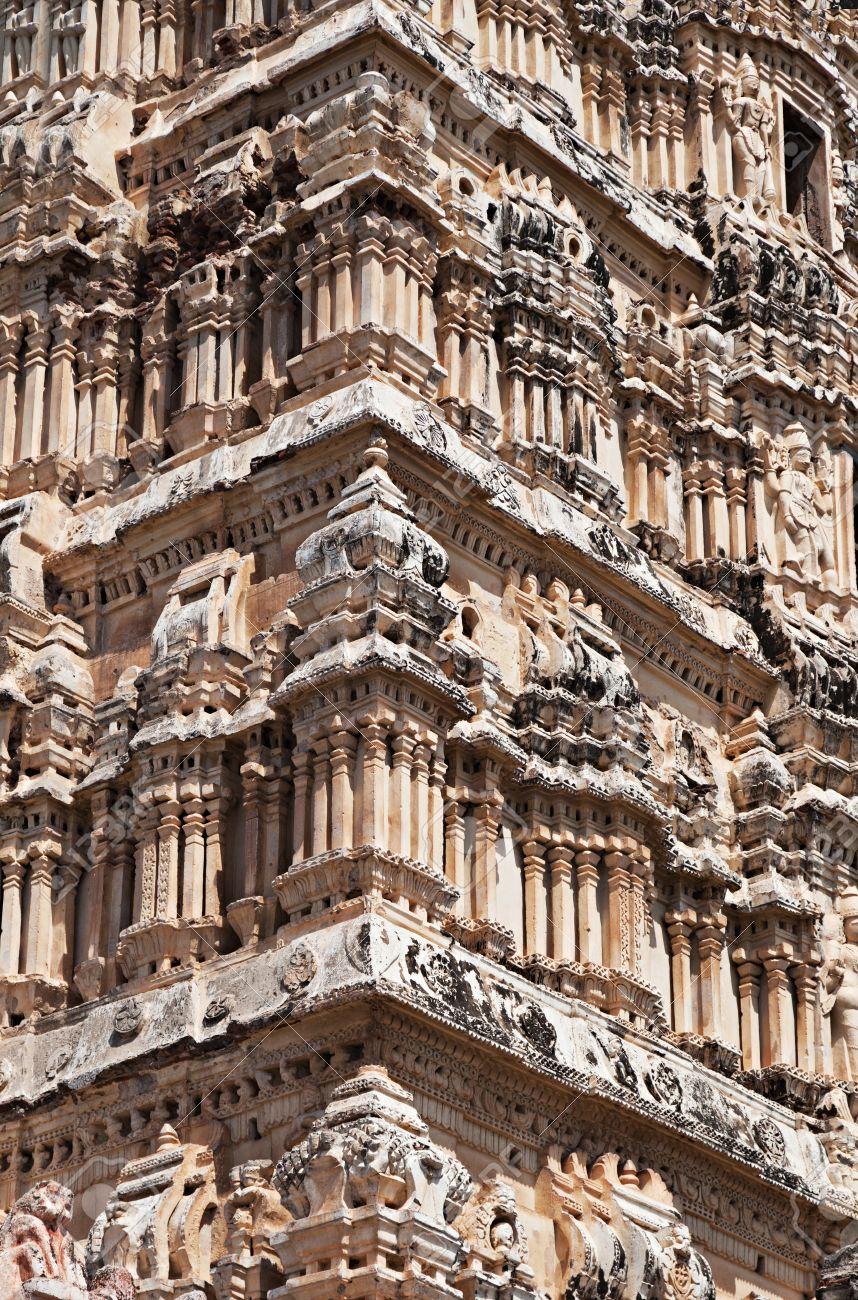 15597400-Detail-of-Virupaksha-temple-Hampi-Karnataka-state-India--Stock-Photo