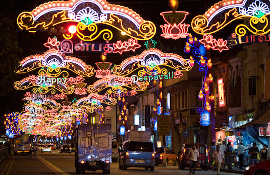 Deepavali Light Decorations in Singapore | How Diwali Is Celebrated Outside India