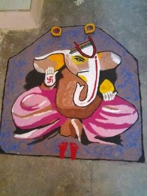 Ganesha Rangoli 20