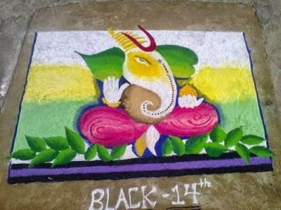 Ganesha Rangoli 8