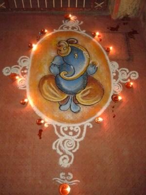 Ganesha Rangoli 6