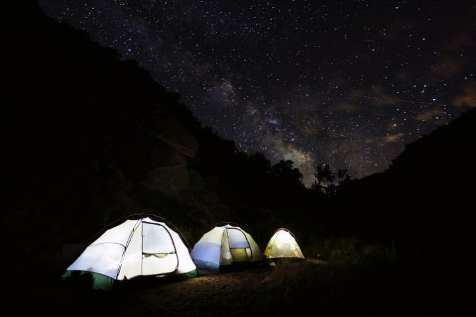 Camp under the open sky in Ladakh