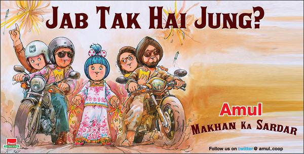 A7e30SiCYAAQLlR - 50 Impressive Bollywood-Inspired Amul Ads!