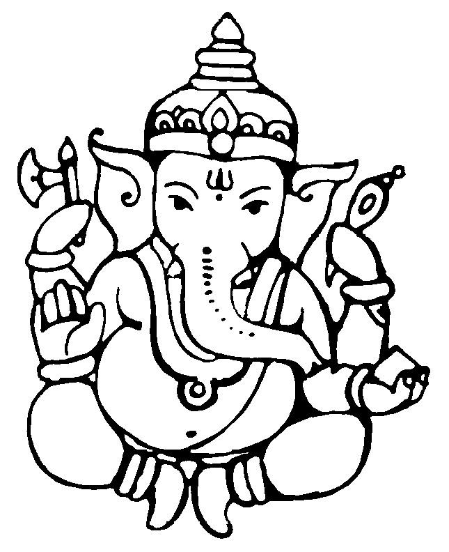 Ganesh Outline clipart