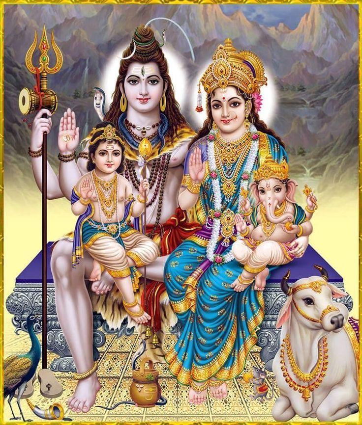Lord Ganesh Family