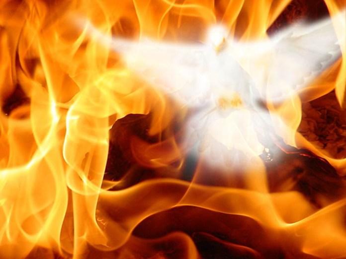 Amazing burning image of Holy spirit