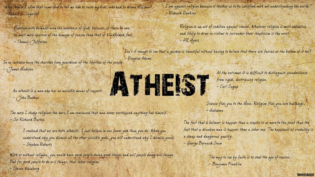 Atheist awesome image in 1920x1080 resolution