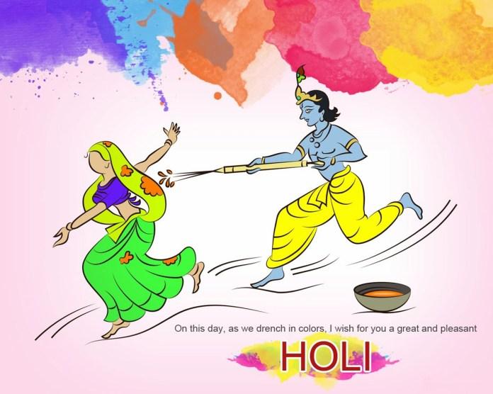 Awesome image of Radha Krishna playing holi