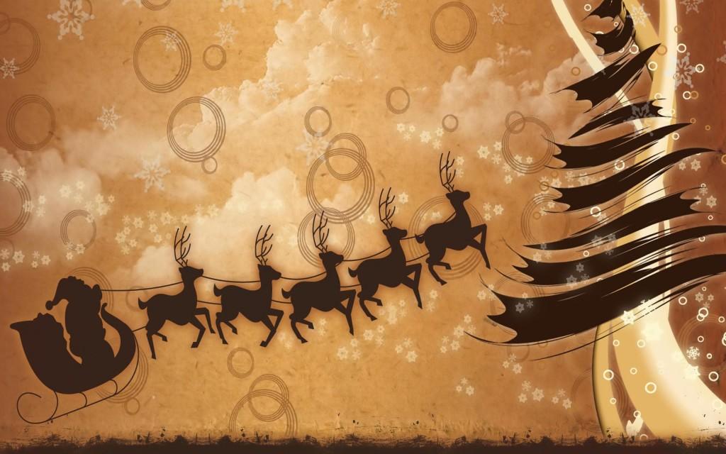 Christmas Reindeer lovely poster