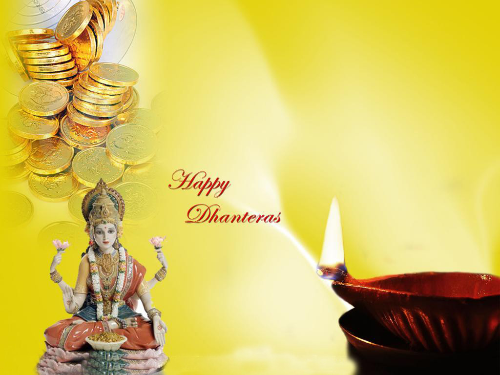Dhanteras wishes with godess Lakshmi