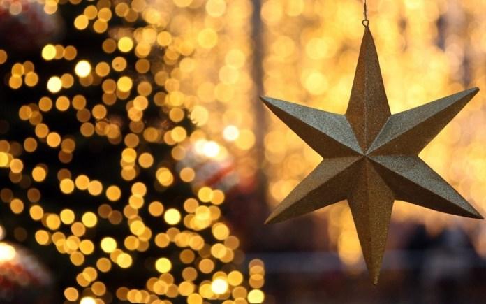 Lovely golden Christmas star