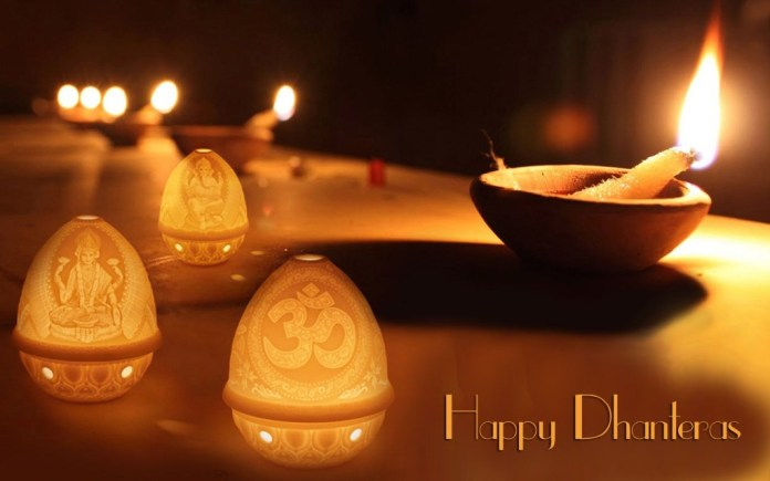Happy dhanteras and diwali greeting awesome wallpaper in HD