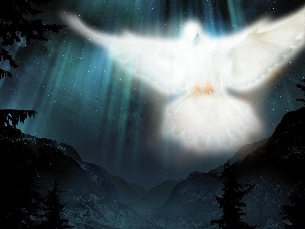 Holy spiriy image at night