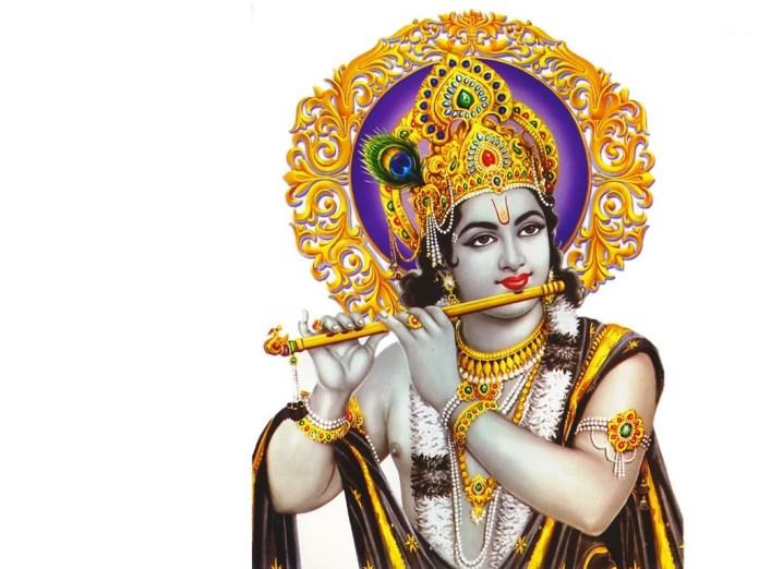 Lord Krishna playing flute image