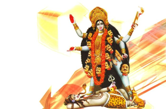 Maa kali wallpaper with lord shankar