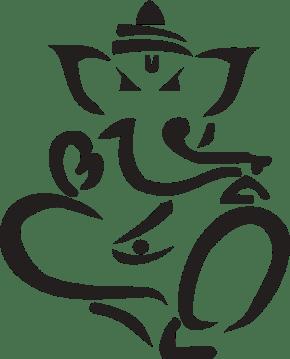 Lord Ganesha Yoga art