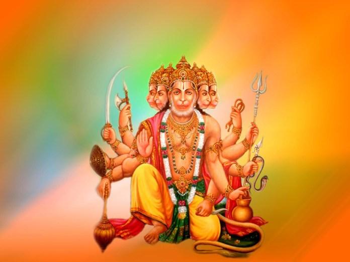 Panchmukhi Hanuman giving blessing picture
